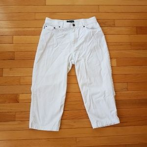 Ralph Lauren Women's White Jean Long Shorts sz 10P